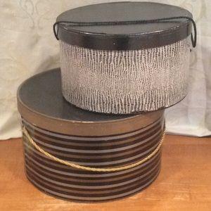 SET OF 2 VINTAGE (1930-1950) HAT BOXES